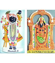 Balaji and Srinathji - Set of Two Magnets