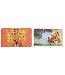 Panchamukhi Hanuman and Shanidev - Set of 2 Magnets