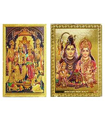 Shiva Family and Ram Darbar Metal Magnet