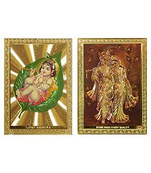 Radha Krishna and Bal Gopal - Set of 2 Magnets