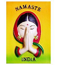 Namaste India - Stone Dust Magnet