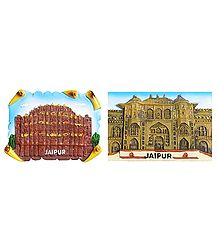 Hawa Mahal and City Palace - Set of 2 Magnet