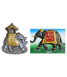 Royal Elephants - Set of 2 Magnet