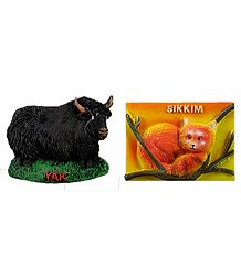 Yak and Red Panda - Set of 2 Stone Dust Magnet