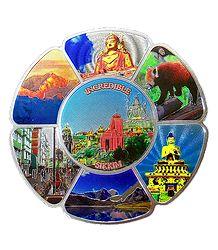Beauties of Sikkim - Metal Magnet