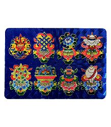 8 Lucky Buddhist Sign - Metal Magnet
