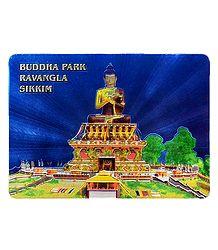 Buddha Park, Sikkim - Metal Magnet