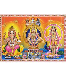 Ayyappan, Murugan and Ganesha - Poster