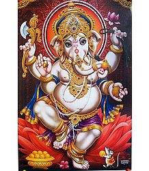 Buy Dancing Ganesha Poster
