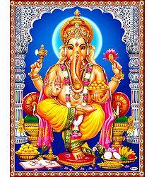 Ganapati Sitting on Throne
