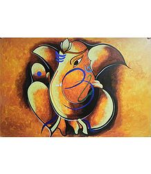 Artistic Lord Ganesha with Om