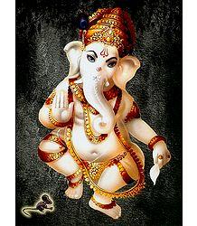 Dancing Ganesha - Poster