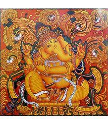 Ganesha Playing the Flute