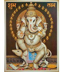 Lord Ganesha Sitting on Mouse