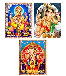 Set of 3 Ganesha Posters