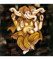 Three Headed Lord Ganesha