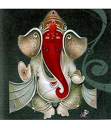 Red Face Lord Ganesha