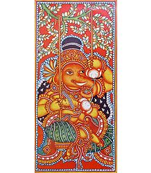 Ganesha on a Swing