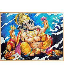 Lord Ganesha with a Pot of Modakam