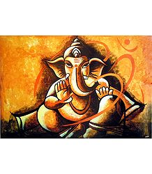 Ganesha with Om Poster - Buy Online