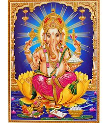 Glitter Poster of Lord Ganesha
