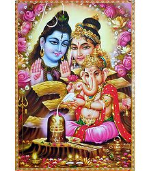 Shiva, Parvati and Ganesha