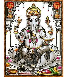 Ganesha with Modakas