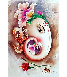 Face of Ganesha - Unframed Poster