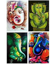Lord Ganesha - Set of 4 Posters