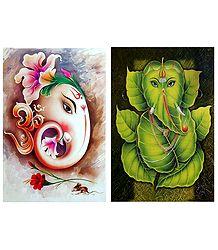 Lord Ganesha - Set of 2 Posters