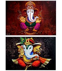 Lord Ganesha - Set of 2 Posters