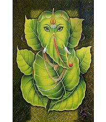Buy Leaf Ganesha Poster