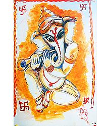 Ganesha Playing Shehenai