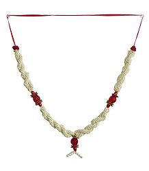 White and Red Bead Garland