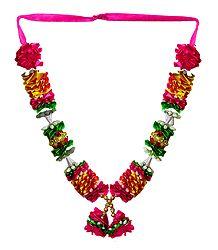 Multicolor Satin Ribbon with Bead Garland