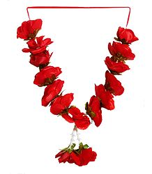 Red Rose Cloth Garland