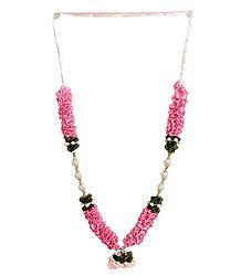 Pink Satin Ribbon Garland