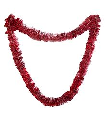 Red Foil Paper Garland
