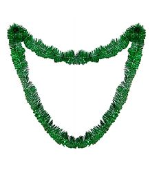 Green Foil Paper Garland