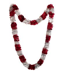 Red and Silver Foil Paper Garland