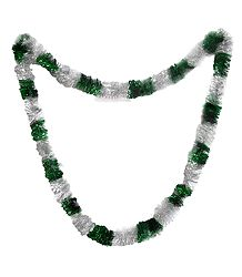 Green and Silver Ribbon Garland