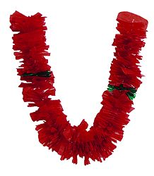 Red Plastic Ribbon Garland
