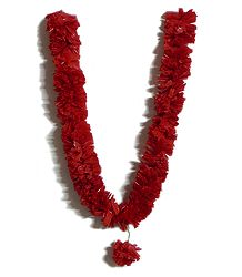 Buy Red Synthetic Paper Ribbon Garland
