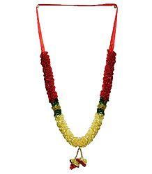 Yellow and Red Satin Ribbon Garland