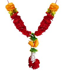 Red and Yellow Cloth Garland