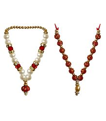 2 Beaded Small Garlands for Deity