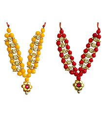 Set of 2 Small Bead Garlands