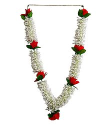 White Synthetic Flower Garland