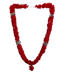 Red Synthetic Flower Garland