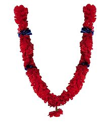 Red Synthetic Paper Garland